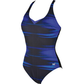 arena Kate Light Cross Back One Piece Swimsuit Women bright blue-black